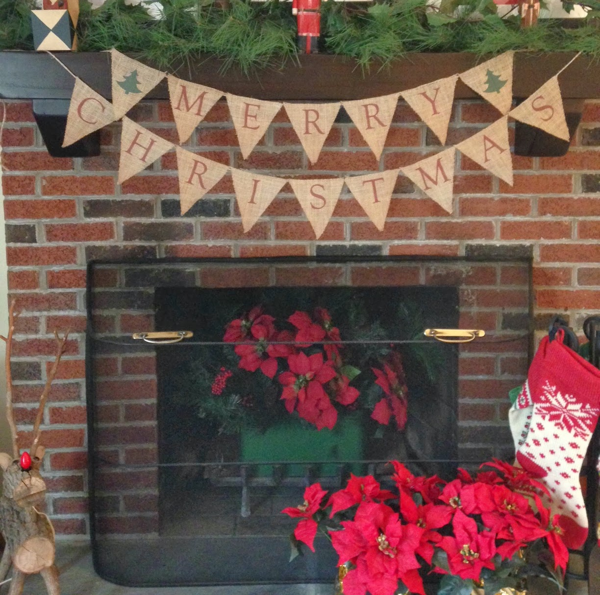 two it yourself easy printed merry christmas burlap banner - Burlap Christmas Banner