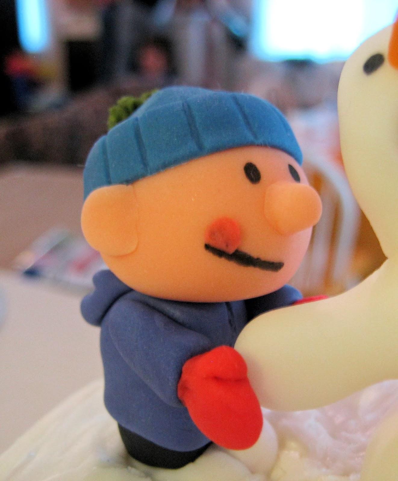 Calvin and Hobbes Snowmen Cake - Fondant Calvin 2