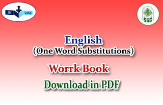 "-One word Substitutions ""Work Book"