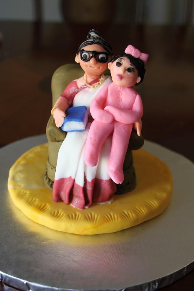 DHANYA S DELIGHTS: Indian Grandma and Baby Cake