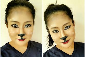 #Make Up FX : Reindeer Xmas Make Up Look