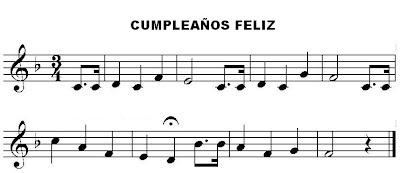 feliz cumpleaños partitura para flauta