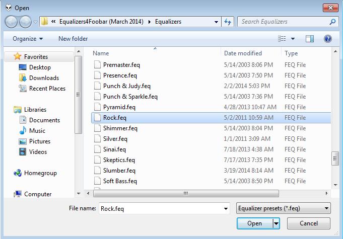 Cara menggunakan Equalizers Foobar2000 3
