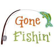 Gone Fishin' Applique