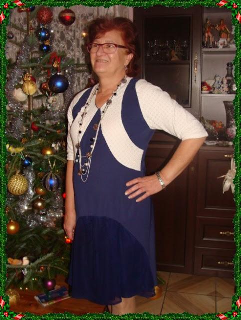 Świąteczna sukienka-burda 9/2014 model 122.Sukienka sylwestrowa.Uwalniam tkaniny