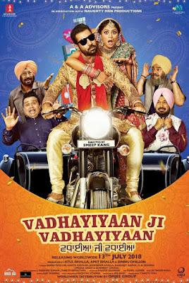 Vadhayiyaan Ji Vadhayiyaan 2018 Punjabi 480p WEB HDRip 350Mb x264
