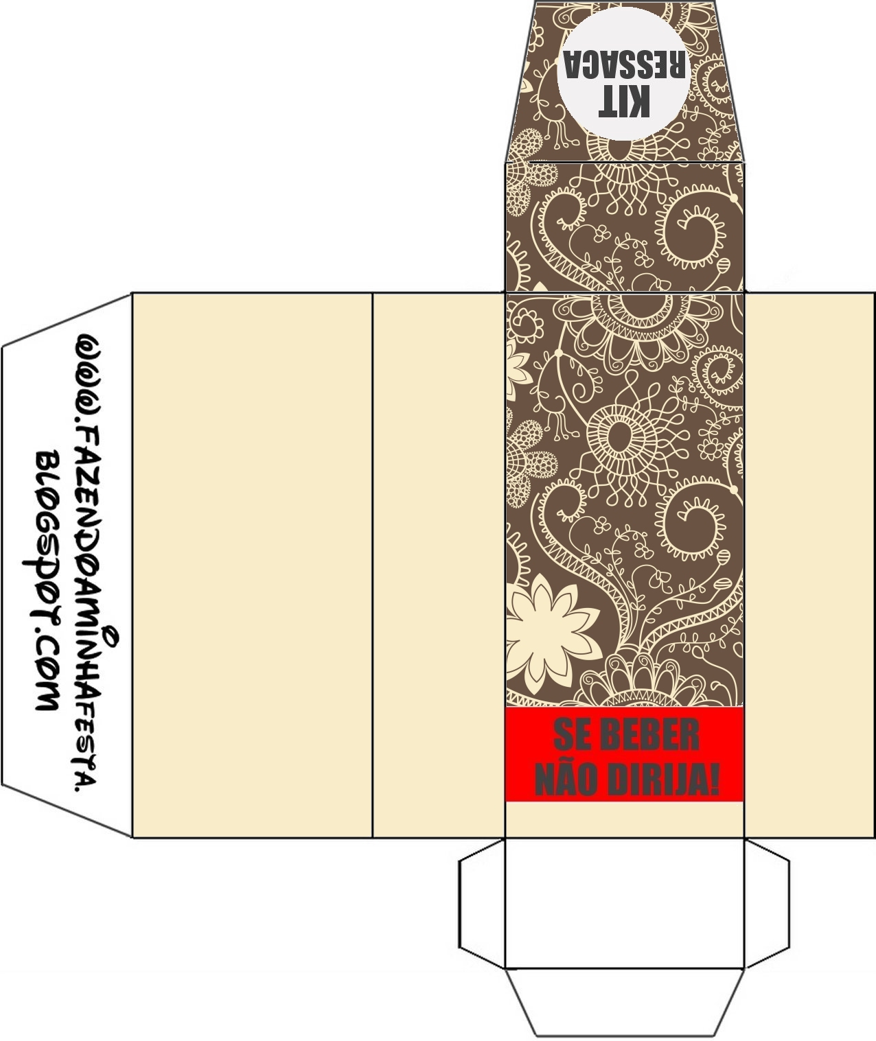 Kit Toilet – Banheiro Marrom e Bege #C60505 1276 1517