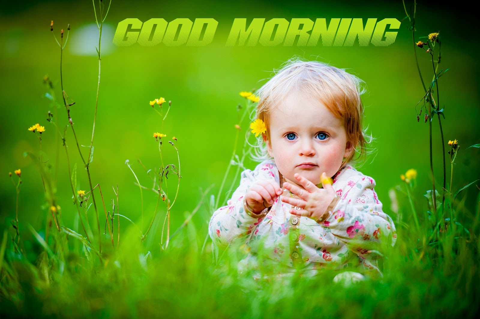 Good Morning Baby Cute : Cute baby girl good morning wishes wallpapers pictures