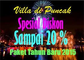 Diskon Villa Murah Tahun Baru 2015 di Puncak