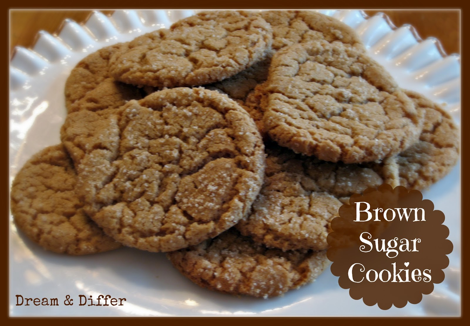 Dream and Differ: 31 Days of Comfort Food: Day 5, Brown Sugar Cookies
