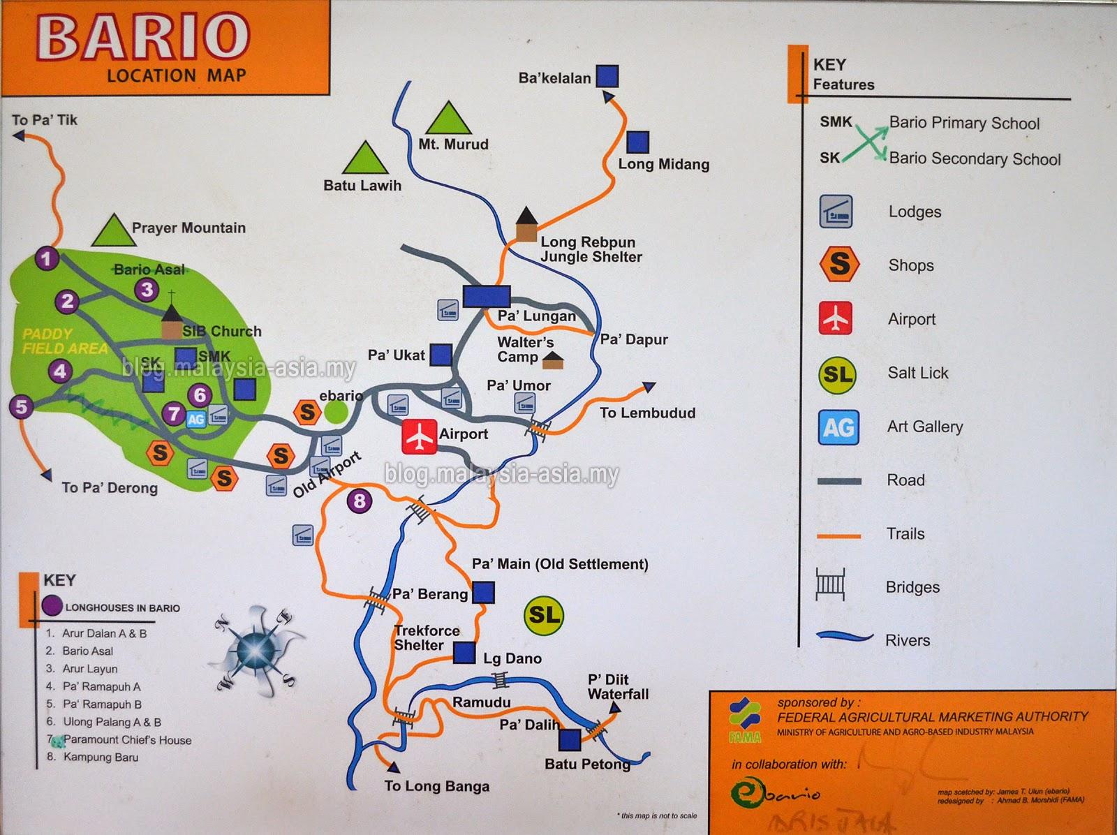 Bario Highlands Map