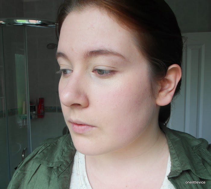 how dior nude skin bb creme 001 looks on face covers redness coverage