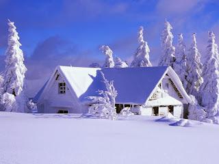 Planinska kuća u snijegu slike besplatne pozadine za desktop download