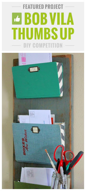 Bob Vila, mail organizer, old books, reclaimed wood, organization. http://bec4-beyondthepicketfence.blogspot.com/2014/01/old-book-mail-organizer.html