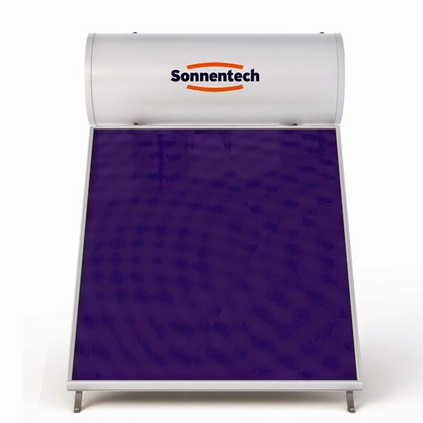 Ηλιακός θερμοσίφωνας υπέρ-υψηλής απόδοσης Sonnentech SF200 με συλλέκτη Titanium Full Face