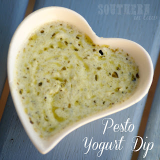 Healthy Pesto Yogurt Dipping Sauce