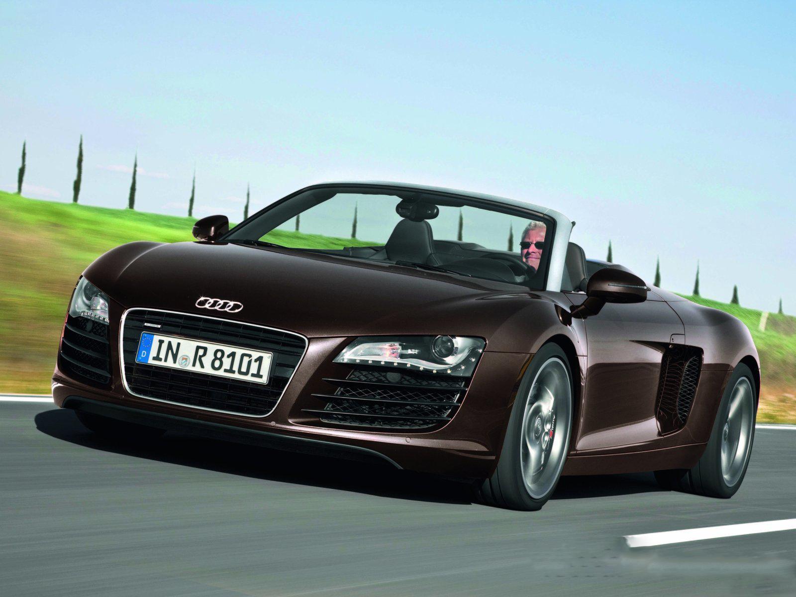 Audi r8 spyder 4 2 fsi quattro front view