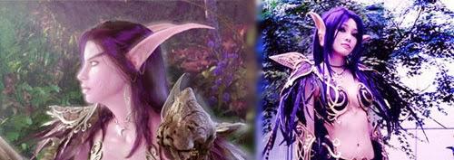 disfraces de elfas oscuras para Halloween