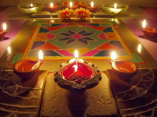 Diwali rangoli ideas latest 2013 deepavali rangoli for Home decorations in diwali
