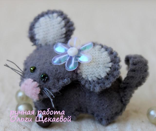 крыса, мышь, китайский гороскоп, ёлочная игрушка