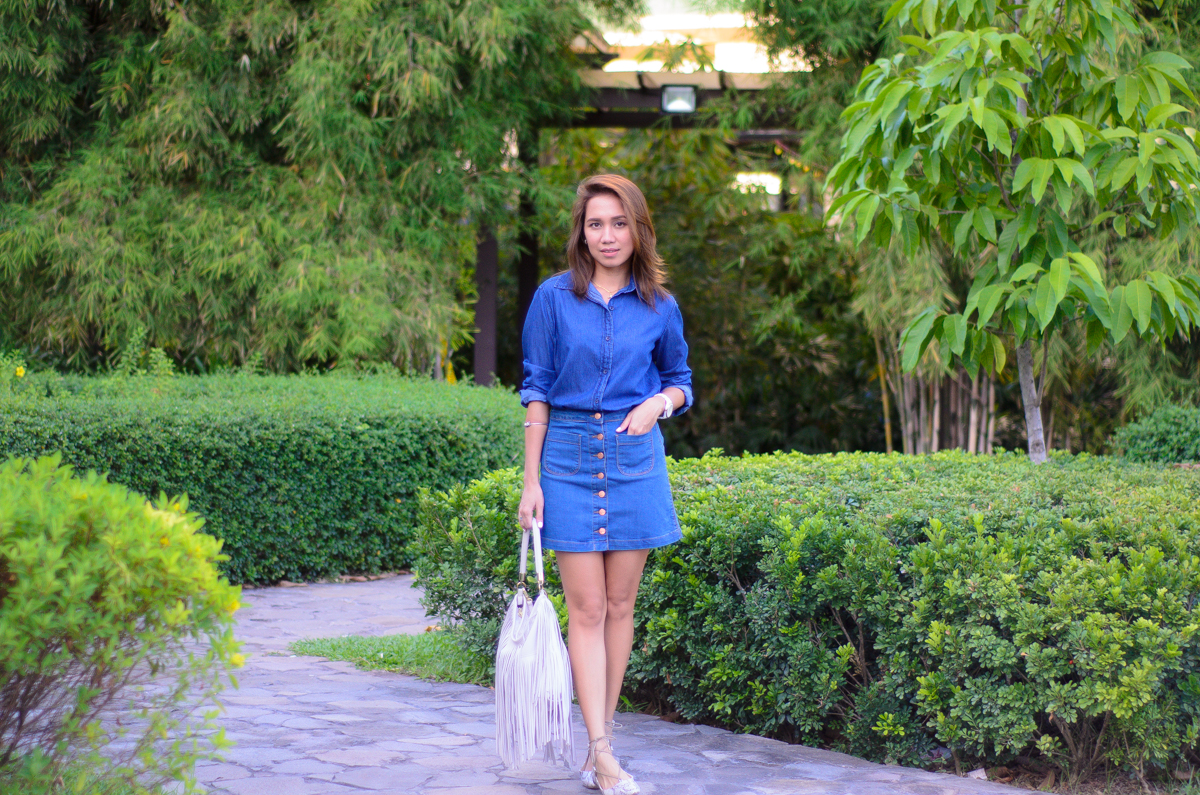Penshoppe, Cebu Fashion Blogger, Cebu Bloggers, Denim on Denim, Forever21, Zara, HM, OUTFIT OF THE DAY, SM PARISIAN, PANDORA BRACELET, DOUBLE DENIM, FASHION