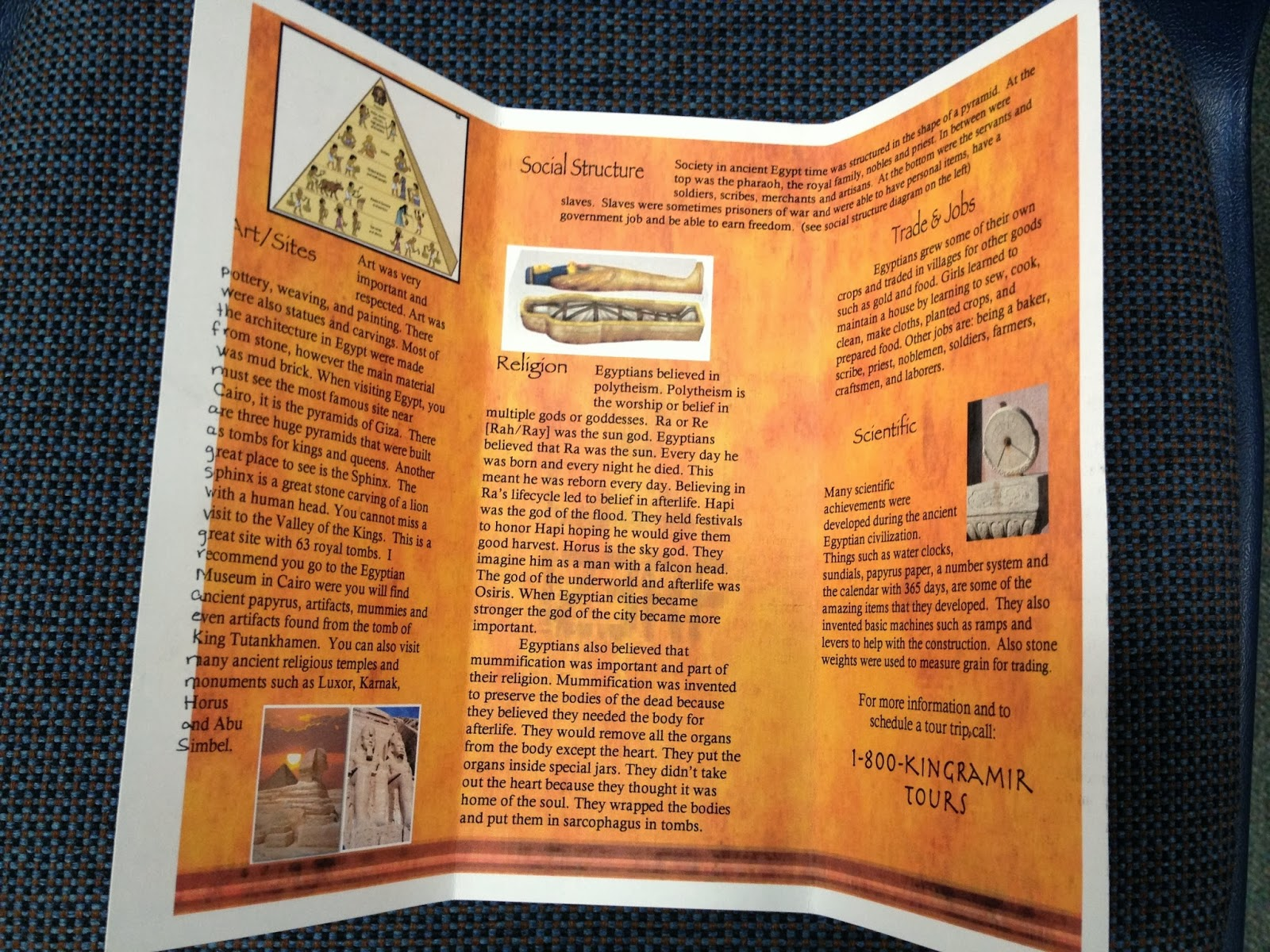 Ms spinrod39s class egypt brochures for Ancient egypt brochure