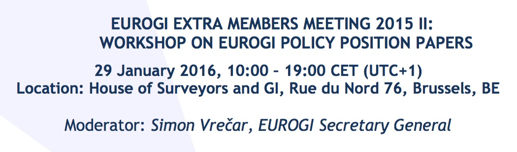 EUROGI Extra Members Meeting