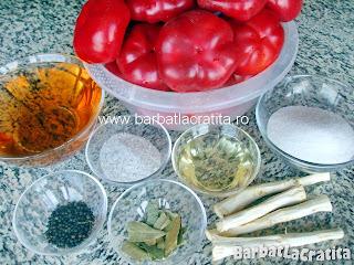 Gogosari in otet pentru iarna ingrediente reteta