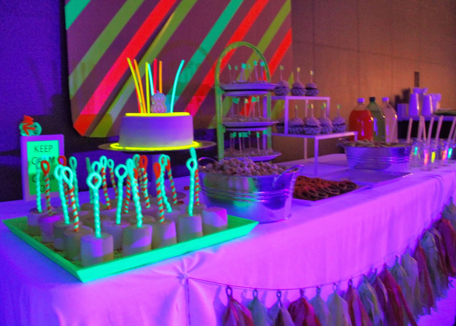 Neon Glow In The Dark Birthday Party