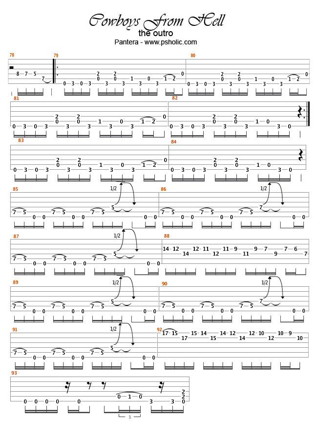 Domination pantera guitar tabs