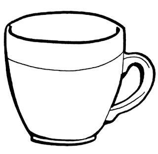 imagens para colorir xicara - Xícara para colorir pintar imprimir bauzinho da web