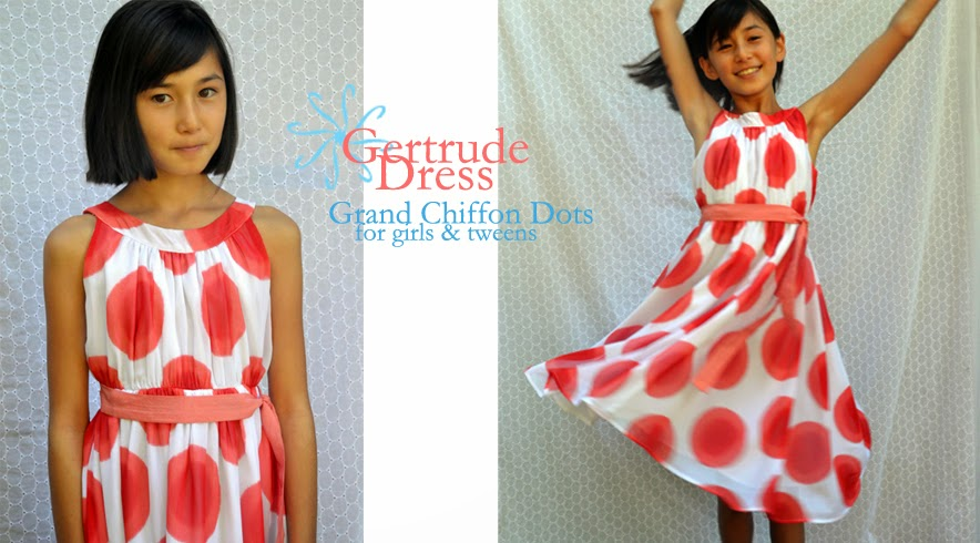 Gertrude dress, girls dress for special occasion, tween sized dress for special occasion, featured in Martha Stewart Wedding.