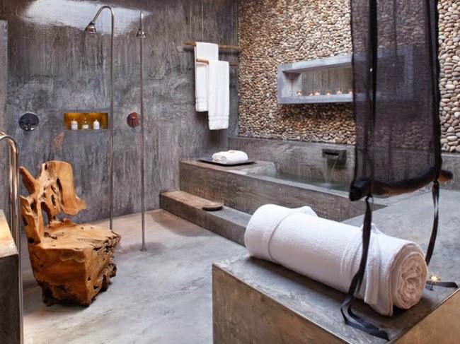 Baño Moderno Rustico:APAÑOS creatividad al poder : BAÑOS MODERNOS CON TOQUE RÚSTICO