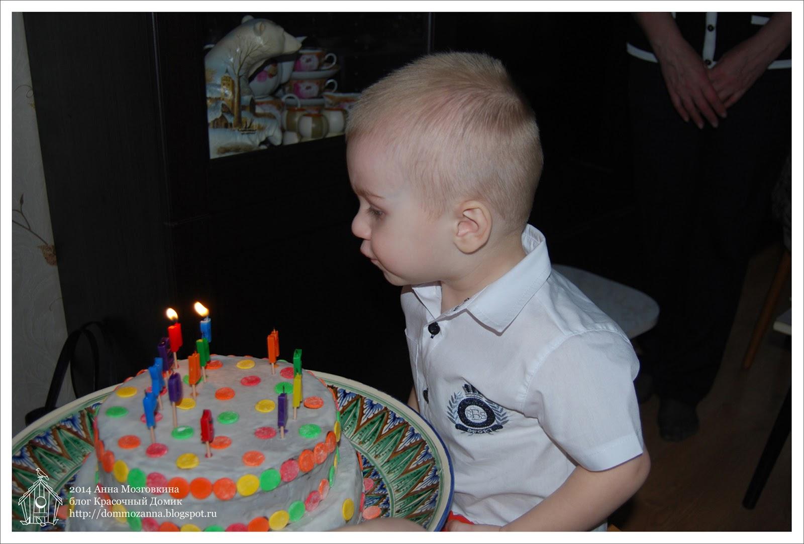 детский праздничный торт свечи