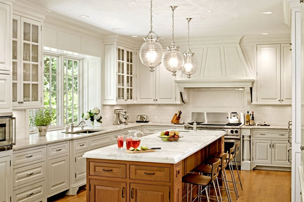 Light Colored Kitchens Kitchen Pendant Lighting
