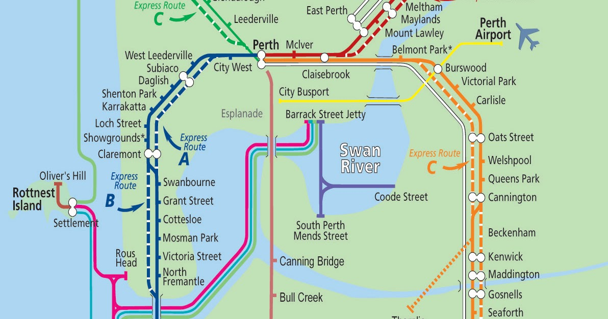 The Shed S Guide To Perth Perth Public Transport Map