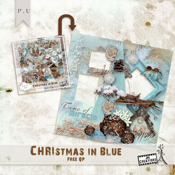 NEW Kit Christmas in Blue + Black Friday Sale+ Freebie + Chance to Win!!!