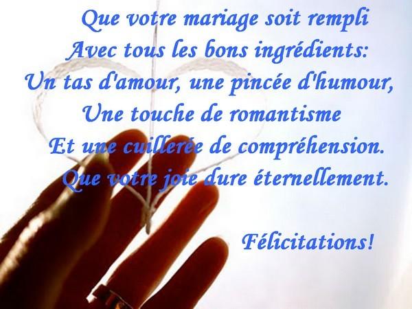 puissent vos curs tre plein avec amour pour toujours - Texte Felicitations Mariage