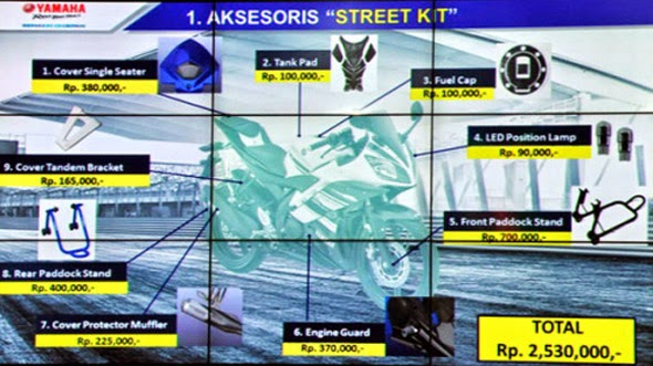 Daftar Harga Aksesoris Motor Yamaha R15 Terbaru