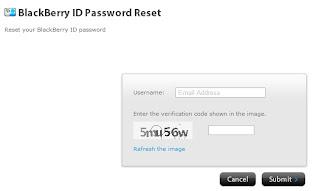 BBID password reset