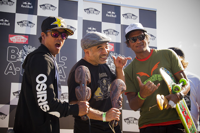 Sergie Ventura, Steve Caballero and Pat Ngoho winners of the Bowl-A-Rama Wellington