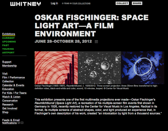 OSKAR FISCHINGER: SPACE LIGHT ART—A FILM ENVIRONMENT
