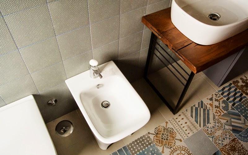 bagno Cementine disegno : Casa Tuscolana: stile contemporaneo a Roma
