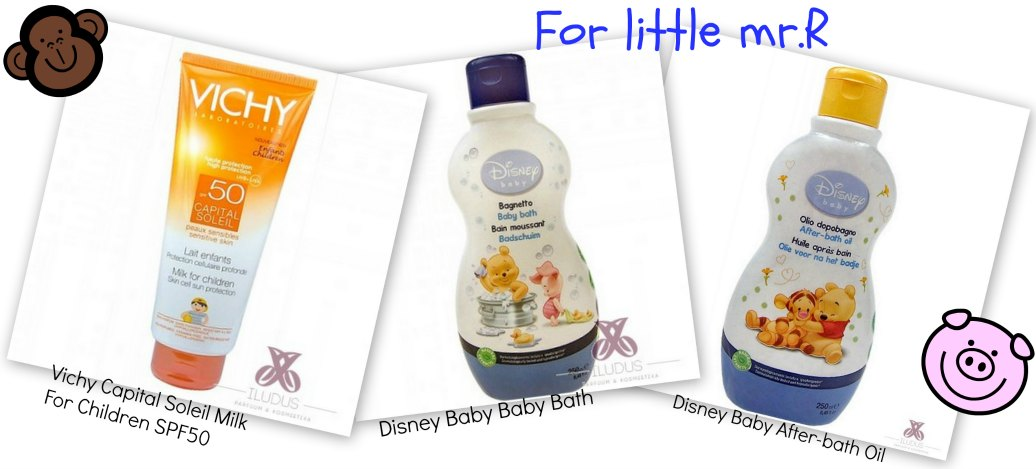 Vichy Capital Soleil Milk For Children SPF50, Disney Baby Bath and After Bath Oil