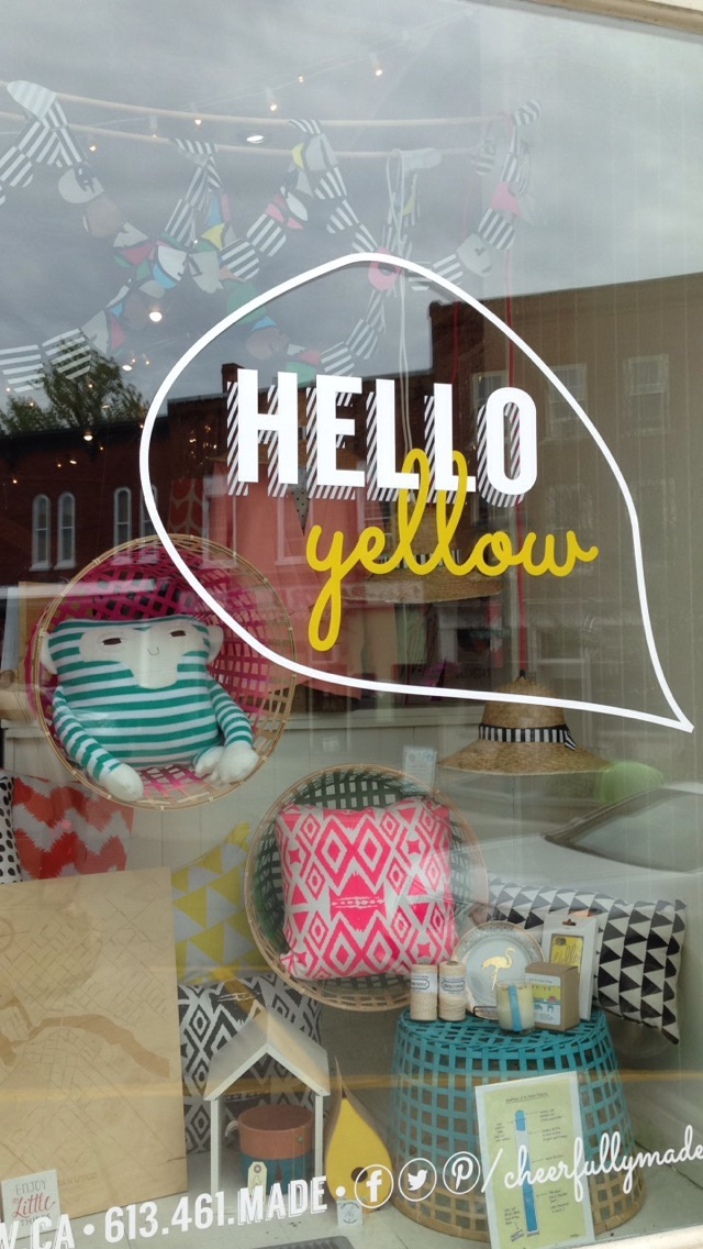 Hello Yellow in Almonte, Ontario