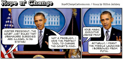 obama, obama jokes, cartoon, political, conservative, hope n' change, hope and change, stilton jarlsberg, obamacare, appeals, court, subsidies