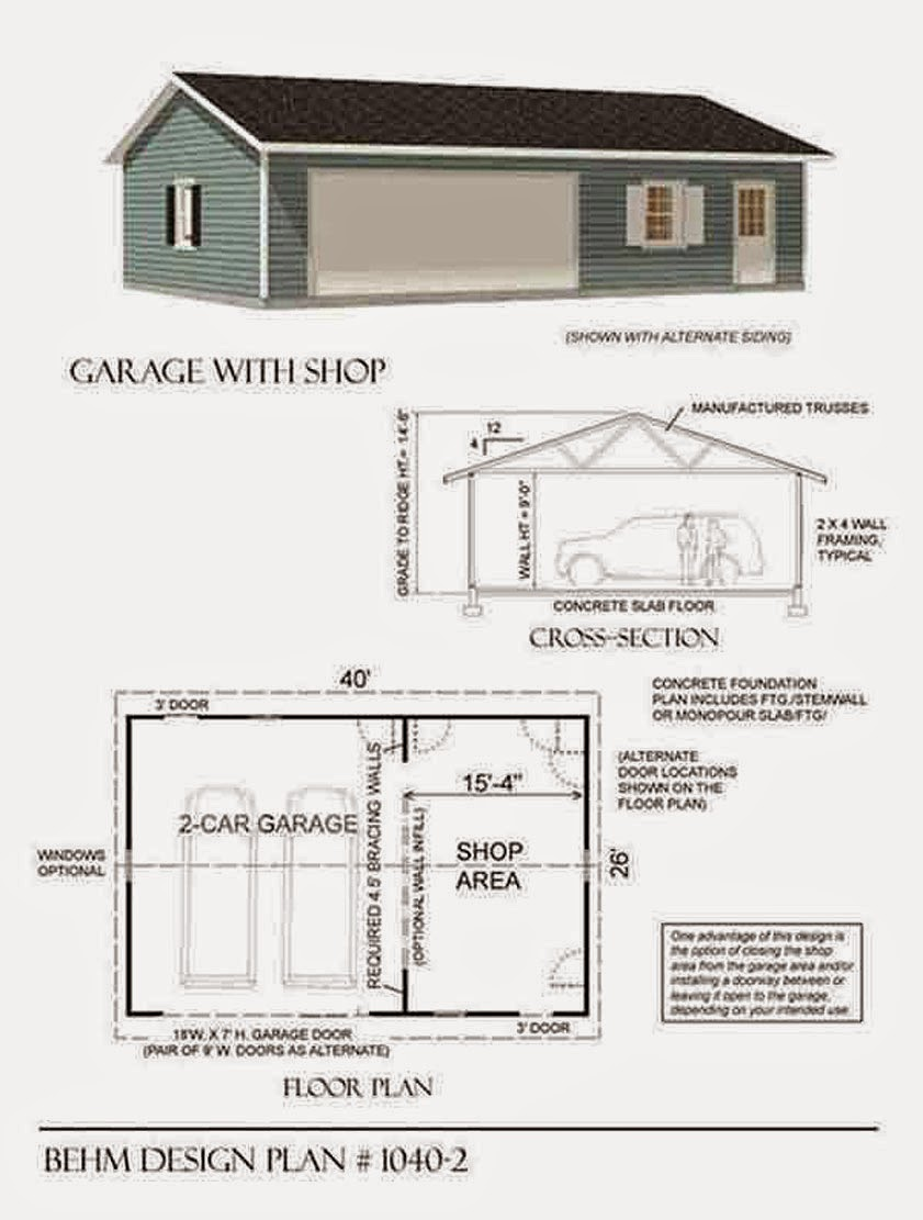 Garage plans blog behm design garage plan examples for The garage plan shop