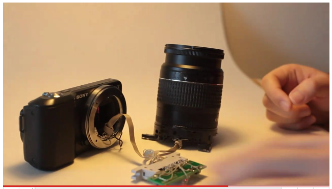 sony nex canon aperture controller conurus