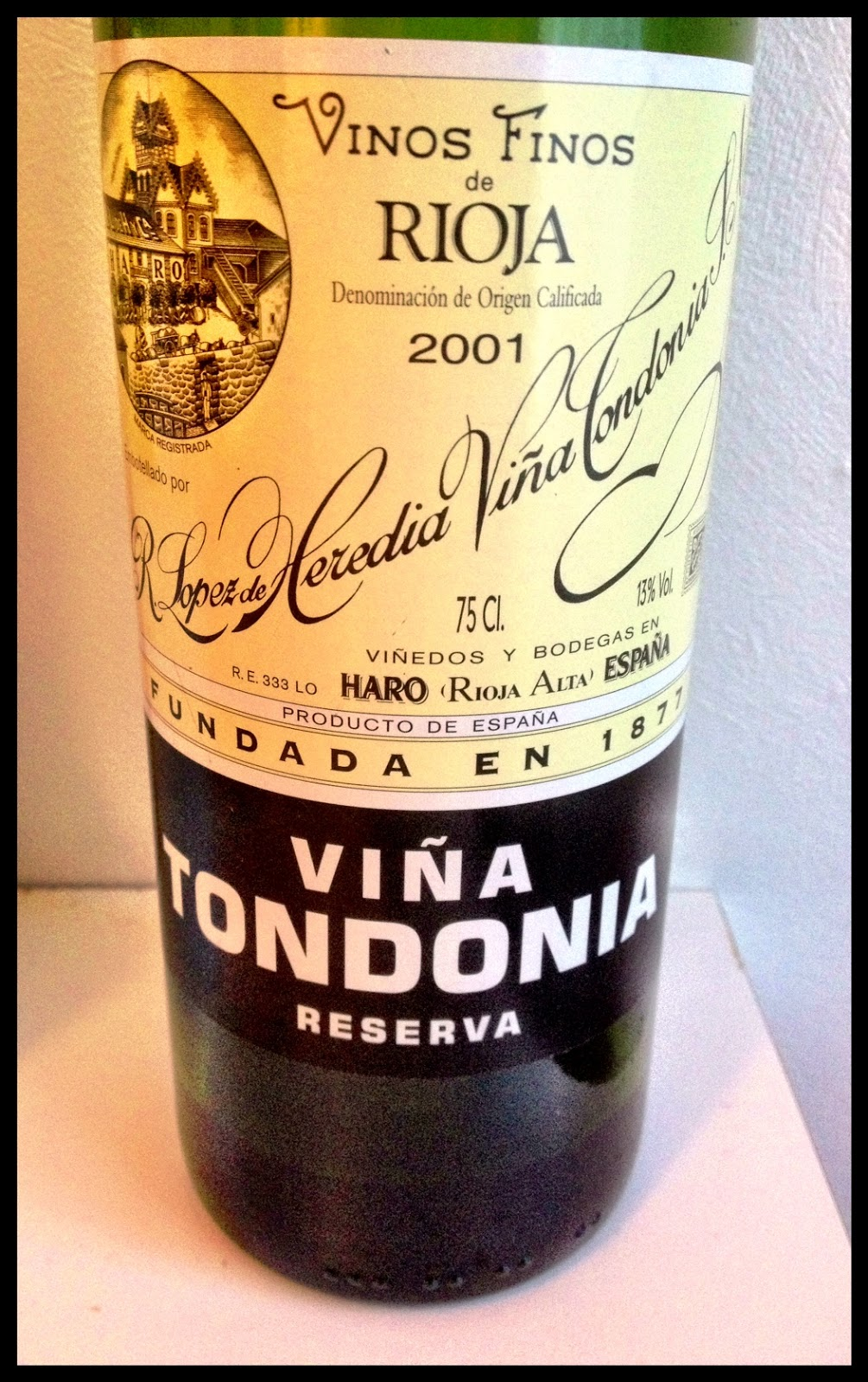 Tasting note on the 2001 Lopez de Heredia Rioja Vina Tondonia Reserva
