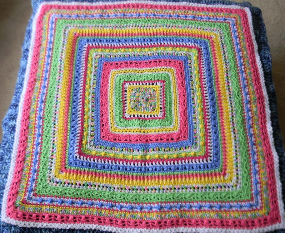 X Stitch Crochet Baby Blanket Pattern : Bizzy Crochet: Faeries- Sampler Baby Afghan Pattern